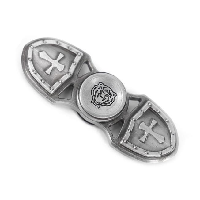 Дизайнерский спиннер Hand Fidget Spinner «Крест Тамплиера» серебро