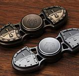 Дизайнерский спиннер Hand Fidget Spinner «Крест Тамплиера» серебро, фото 3