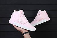 Женские кроссовки Adidas Tubular Invader Pink / Реплика (1:1 к оригиналу)