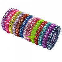 Резинки силиконовые спираль цветные металлик