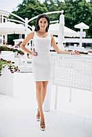 Женское летнее трикотажное мини платье