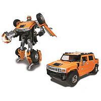 Робот-трансформер - HUMMER H2 SUT для детей от 5 лет (1:24) ТМ Roadbot Оранжевый 53091R