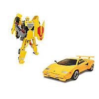 Робот-трансформер - LAMBORGHINI COUNTACH для детей от 5 лет (1:24) ТМ Roadbot Желтый 53061R