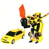 Робот-трансформер - MITSUBISHI LANCER EVOLUTION IX для детей от 6 лет (1:32) ТМ Roadbot Желтый 52080 r