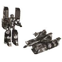 Робот-трансформер - ДЖАМБОТАНК для детей от 5 лет (танк + воин, 30 см, пластик) ТМ X-bot Серый+защитный 31010R