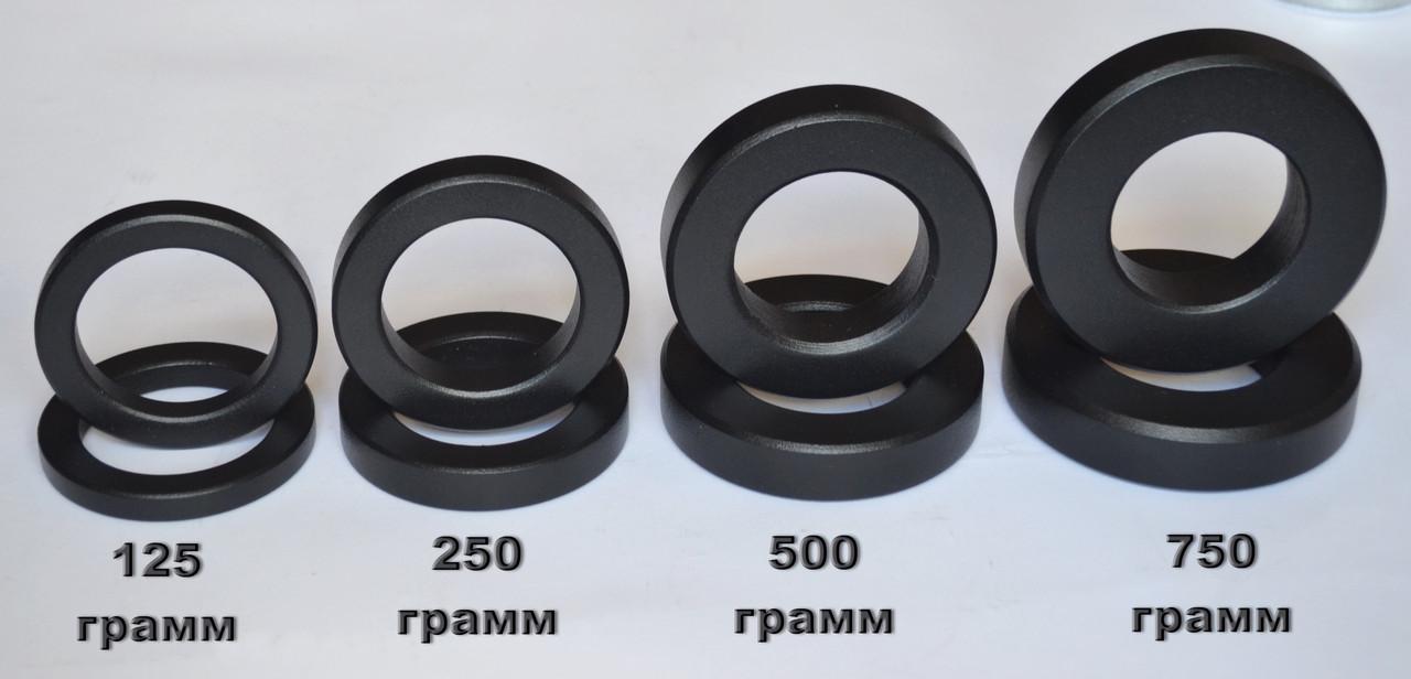 Набор маленьких дисков (блинов) 125-250-500-750 грамм