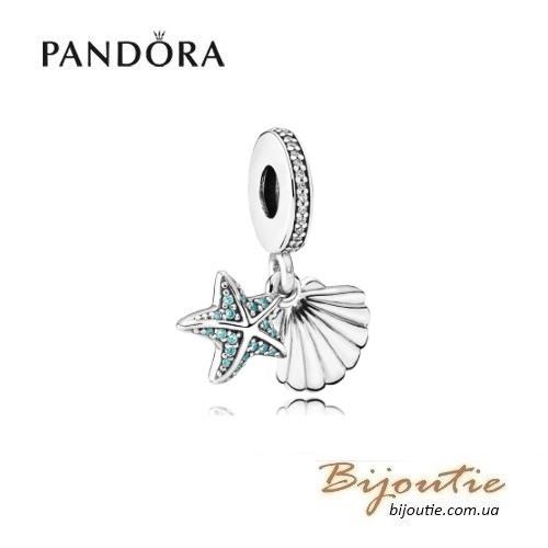 Pandora Шарм-подвеска РАКУШКА И МОРСКАЯ ЗВЕЗДА #792076CZF серебро 925 Пандора оригинал - BIJOUTIE (БИЖУТЬЕ) в Киеве