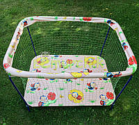 Манеж детский с крупной сеткой Kinderbox Пчелки розовый