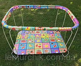 Манеж детский с крупной сеткой Kinderbox Совы в квадратах