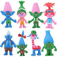 Игрушки Тролли, фигурки Trolls, 8 штук