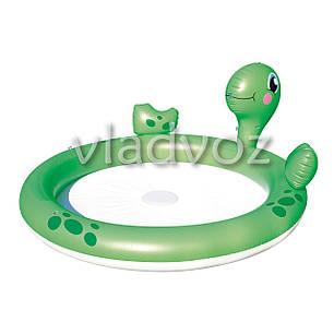 Детский надувной бассейн черепаха с фонтанчиком Bestway 53042, фото 2