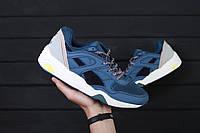 Мужские кроссовки Puma R698 STR Blue / пума  / реплика (1:1 к оригиналу)