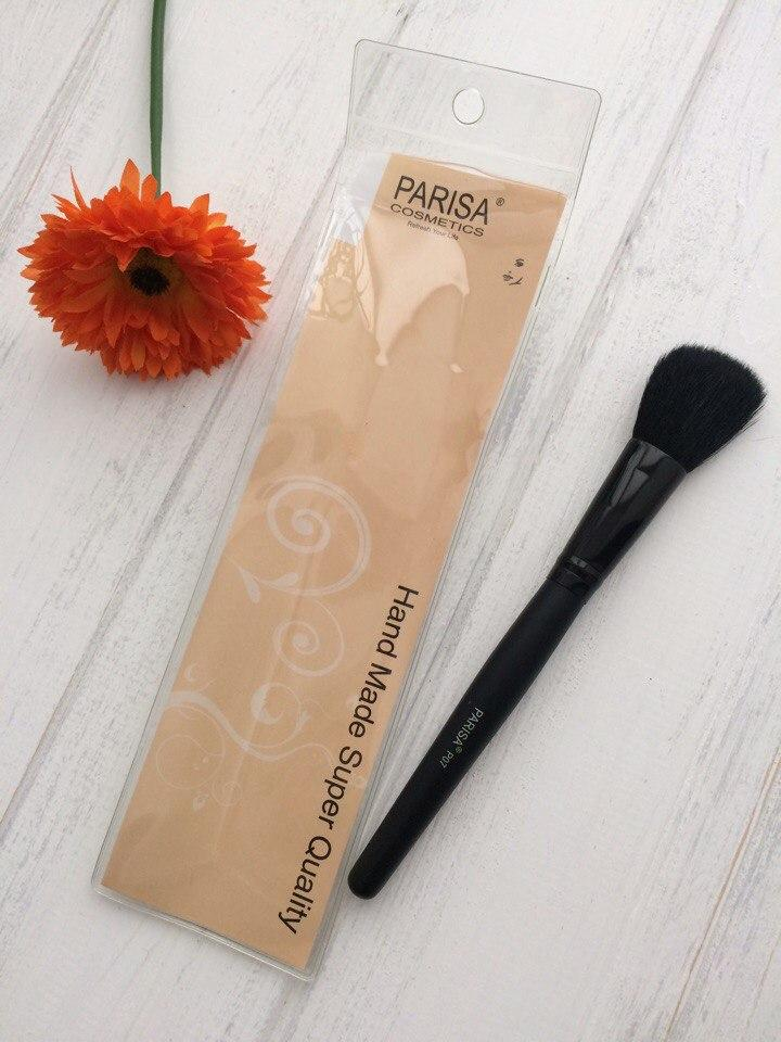 PARISA Кисть для макияжа № P07 (для румян, контуров лица, скошенная большая)