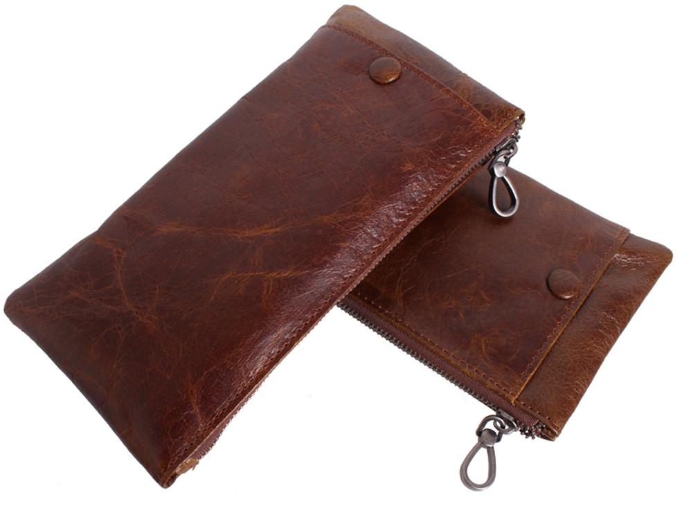 Клатч-кошелек из натуральной кожи LA8915-1BR коричневый