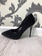 Велюровые туфли на каблуке женские. Материал: иск. Велюр. Высота каблука: 10 см. Размеры 36-41.