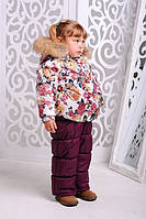 Модный зимний комбинезон для девочк