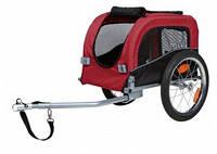TRIXIE Велоприцеп для перевозки собак до 20кг, чёрный, красный, 38х38х60см