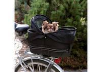 TRIXIE Сумка-перевозка велосипедная для собак до 8кг, черный, 29х42х48см
