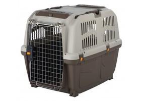 Переноска для собак TRIXIE - Skudo до 35кг, пластик, серый-коричневий, 65х59х79см