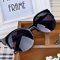 Солнцезащитные очки Cat Eye Винтаж кошачий глаз кэтайс Женские круглые, фото 1