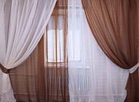 Декор окон красивыми шторами Дуэт