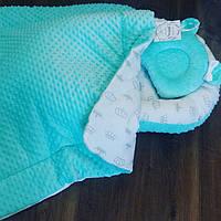 Кокон-гнездышко, ортопедическая подушка и плед для новорожденных. , фото 1