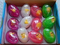Детские лизуны ввиде яйца в середине с игрушкой