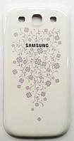 Задняя крышка батареи для мобильного телефона Samsung I9300 Galaxy S3, белая, с орнаментом