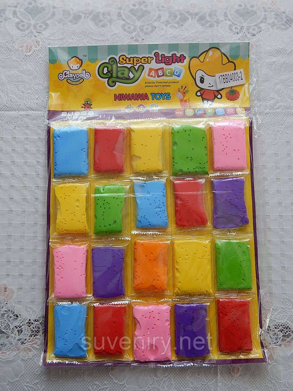 Дитячий пластилін різні кольори тісто для ліплення