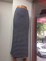 Женская длинная юбка в морском стиле