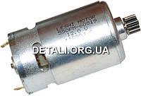 Двигатель шуруповерта Sparky 12V вал шлиц шестерня 12 зубов d10 оригинал 185216