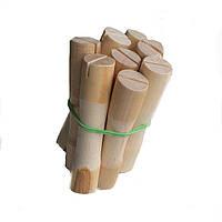 Бигуди-коклюшки деревянные для химической завивки (набор 8 штук, диаметр 15 мм))