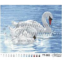 Бисерная заготовка для вышивки схемы-картины Лебеди