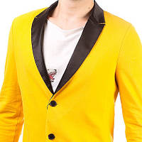 Дизайнерский мужской пиджак лакоста желтый, оранжевый, черный