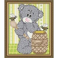 Набор для рисования камнями Мишка с медом