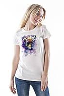 Женская летняя футболка с принтом 00020-003