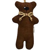 Игрушка ручной работы Мини мишка коричневый