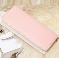Женский  кошелек  клатч розовый