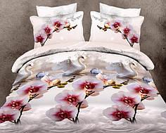 Двуспальный набор постельного белья 180*220 из Ранфорса №079 Черешенка™
