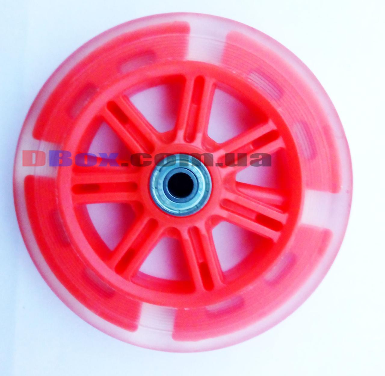 Колесо для самоката 120мм светящееся Красное  (2T7048)