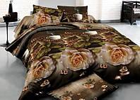 Двуспальный набор постельного белья Ранфорс №284