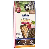 Корм BOSCH ADULT с ягненком и рисом для взрослых собак, 15 кг
