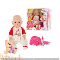 Детская кукла интерактивная пупс Baby Born BB 8001-6