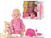 Детская кукла интерактивная пупс Baby Born BB 8001-4