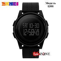 Спортивные часы Skmei 1206 Черные с темным дисплеем