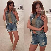 Женские джинсовые шорты №26-ат4660