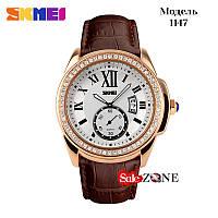 Гарантия! Подарок! Часы skmei 1147 коричневые