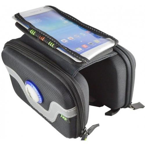 Сумка на раму под смартфон, два ящика с мигалками