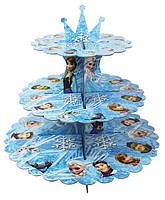 """Подставка , стойка праздничная для капкейков (кексов )  """"Холодное сердце"""" , 30 см."""
