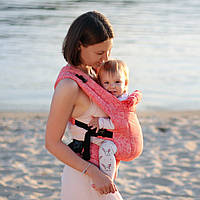 Эрго рюкзак Love & Carry DLIGHT из шарфовой ткани — Флора бесплатная доставка новой почтой